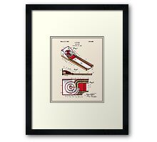 Skee Ball Patent - Colour Framed Print