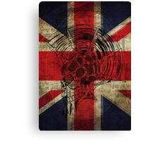 Union Jack Punk Skull - outline Canvas Print