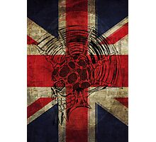 Union Jack Punk Skull - outline Photographic Print