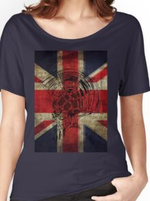 Union Jack Punk Skull - outline Women's Relaxed Fit T-Shirt