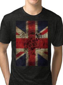 Union Jack Punk Skull - outline Tri-blend T-Shirt