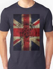 Union Jack Punk Skull - outline Unisex T-Shirt