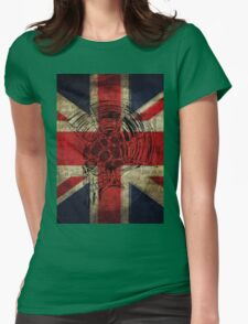 Union Jack Punk Skull - outline Womens Fitted T-Shirt