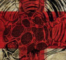 Union Jack Punk Skull - outline Sticker
