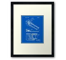 Skee Ball Patent - Blueprint Framed Print