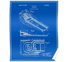Skee Ball Patent - Blueprint Poster