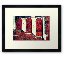 3 Richards on a Walkway Framed Print