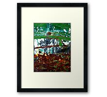 Log Cabin By the Lake Framed Print