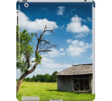 Wooden cabin and tree iPad Case/Skin