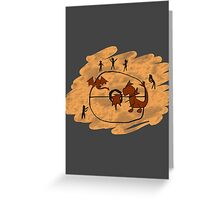 Rupestrian Pokemon Battle V.1 Greeting Card