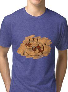 Rupestrian Pokemon Battle V.1 Tri-blend T-Shirt