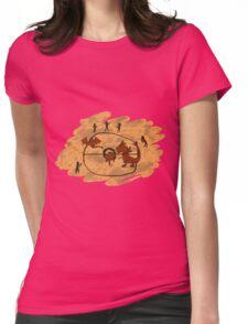 Rupestrian Pokemon Battle V.1 Womens Fitted T-Shirt