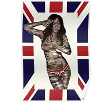 Union Jack Saluting Pinup Poster