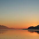 Winter Sunset on Loch Linnhe from Caol. by John Cameron