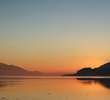 Winter Sunset on Loch Linnhe from Caol. by John Cameron