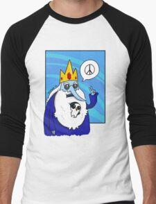 Ice King-Peace! Men's Baseball ¾ T-Shirt
