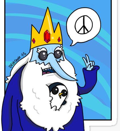 Ice King-Peace! Sticker