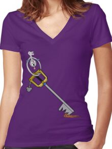 The Key is Mine Women's Fitted V-Neck T-Shirt