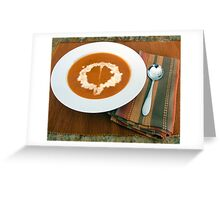 Roasted Red Pepper Soup Greeting Card