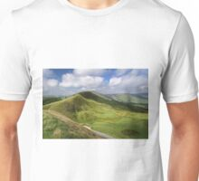 Rushup Edge, viewed from Mam Tor Unisex T-Shirt