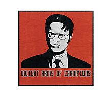 Dwight Army of Champions Photographic Print