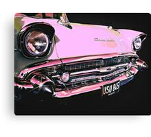 Candy Pink Chevrolet Canvas Print