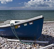Blue boat by Steve plowman