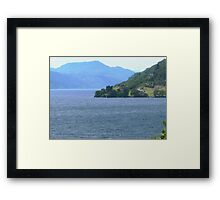 Down Loch Ness to Urquhart Castle Framed Print