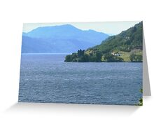 Down Loch Ness to Urquhart Castle Greeting Card