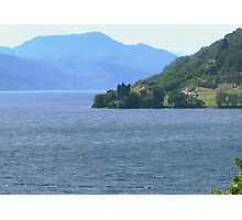Down Loch Ness to Urquhart Castle Photographic Print