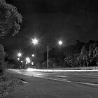 Moreton Bay Road, QLD Australia light long exposure light trail road by Kane Gledhill