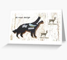 RE-read dog Greeting Card