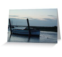 Boat at Blakeney Greeting Card