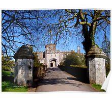 Entrance to Powderham Castle Poster
