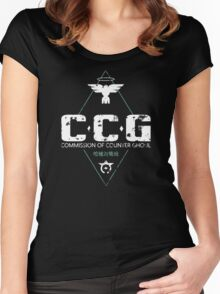Commission of Counter Ghoul Women's Fitted Scoop T-Shirt