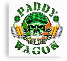 Irish Leprechaun Skull: Paddy off the Wagon Canvas Print