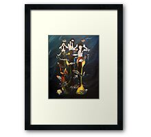 Silly mermaids Framed Print