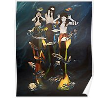 Silly mermaids Poster