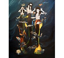 Silly mermaids Photographic Print