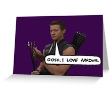 Renner Loves Arrows Greeting Card