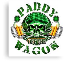 Irish Leprechaun Skull: Paddy off the Wagon 2 Canvas Print