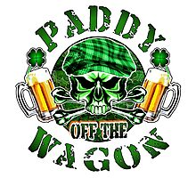 Irish Leprechaun Skull: Paddy off the Wagon 2 Photographic Print
