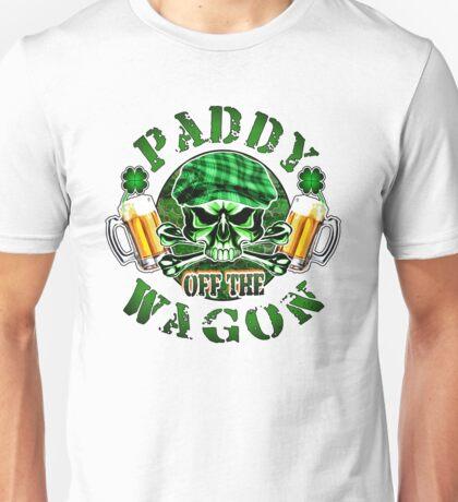 Irish Leprechaun Skull: Paddy off the Wagon 2 Unisex T-Shirt