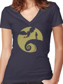 Dragon Nightmare Women's Fitted V-Neck T-Shirt