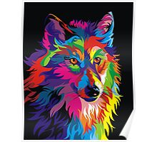 Colorful Wolf Poster