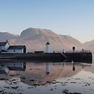 Ben Nevis from Corpach. by John Cameron