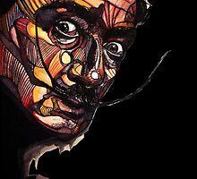 Salvador Dali Black by TIMGILLAM