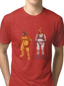 Earthworm Jim & Psycrow Tri-blend T-Shirt
