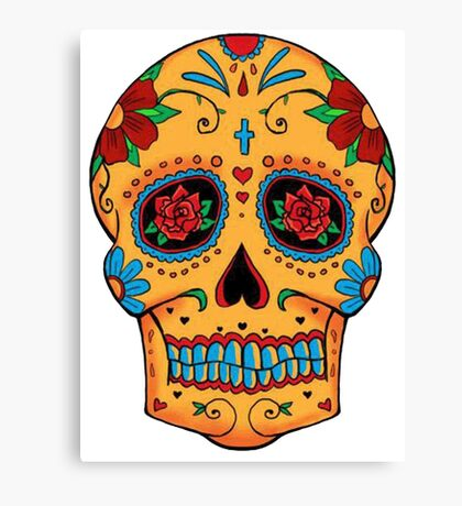 Skull Mexican Canvas Print