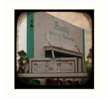 Blast From The Past! Retro Drive in Theater Art Print